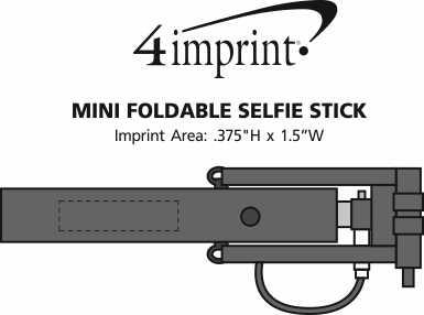 Imprint Area of Mini Foldable Selfie Stick