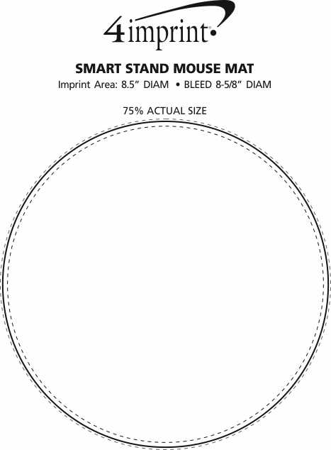 Imprint Area of Smart Stand Mouse Mat