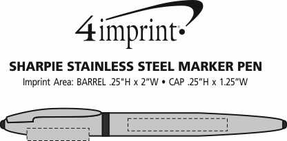 Imprint Area of Sharpie Stainless Steel Marker Pen