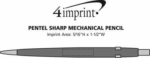 Imprint Area of Pentel Sharp Mechanical Pencil