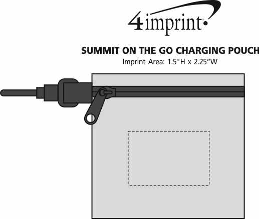 Imprint Area of Summit On the Go Charging Pouch