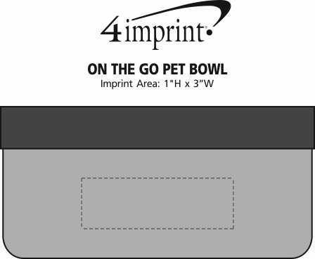 Imprint Area of On the Go Pet Bowl