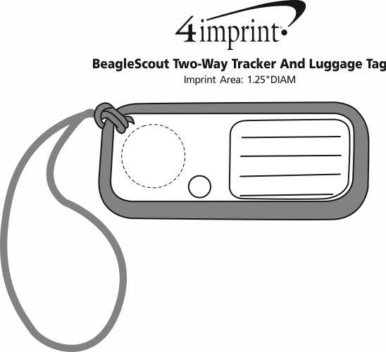 Imprint Area of BeagleScout Two-Way Tracker And Luggage Tag