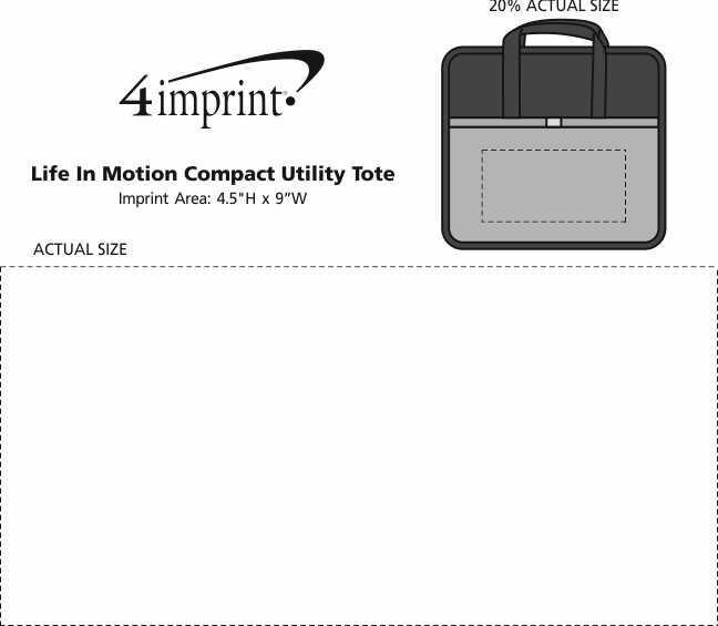Imprint Area of Life in Motion Compact Utility Tote