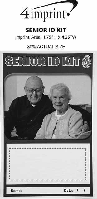 Imprint Area of Senior ID Kit