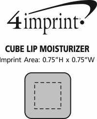 Imprint Area of Cube Lip Moisturizer