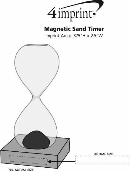 Imprint Area of Magnetic Sand Timer
