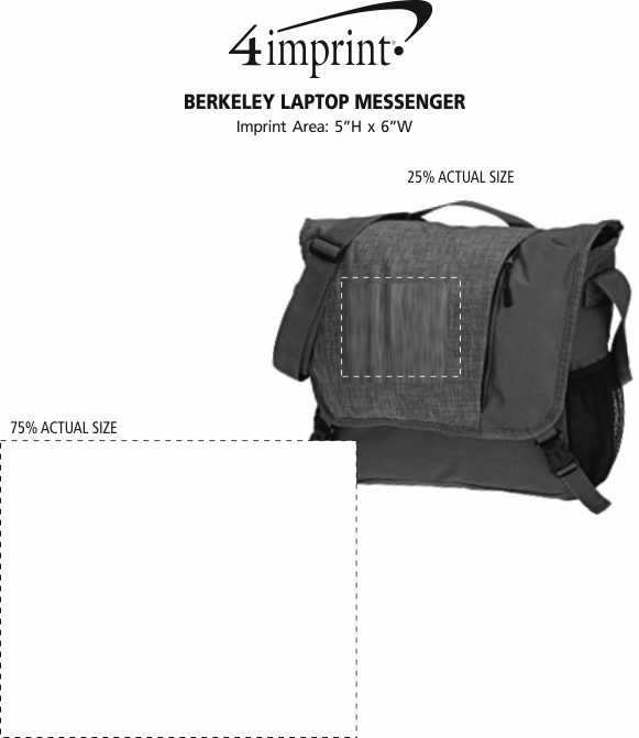 Imprint Area of Berkeley Laptop Messenger