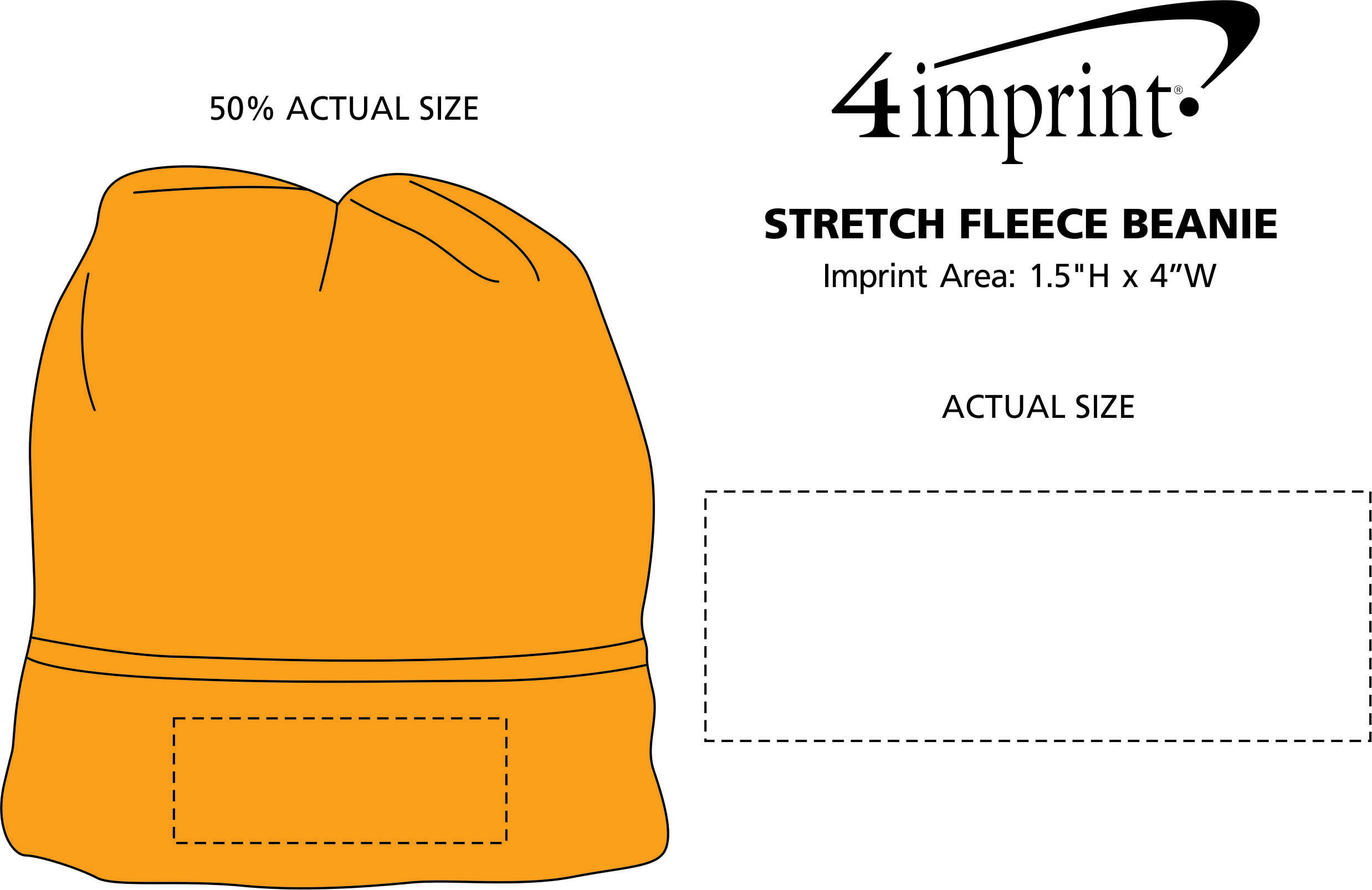 Imprint Area of Stretch Fleece Beanie