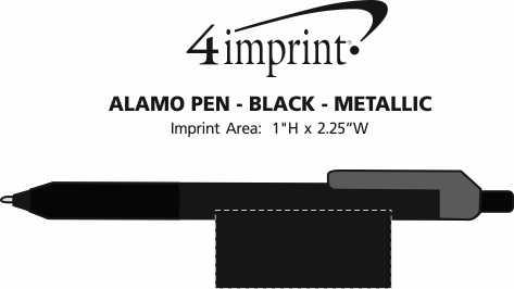 Imprint Area of Alamo Pen - Black - Metallic