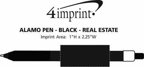 Imprint Area of Alamo Pen - Black - Real Estate