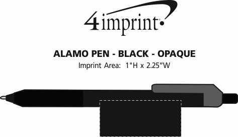 Imprint Area of Alamo Pen - Black - Opaque