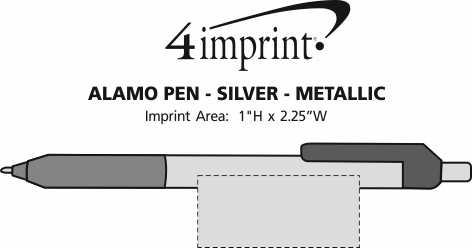 Imprint Area of Alamo Pen - Silver - Metallic