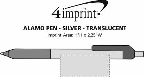 Imprint Area of Alamo Pen - Silver - Translucent