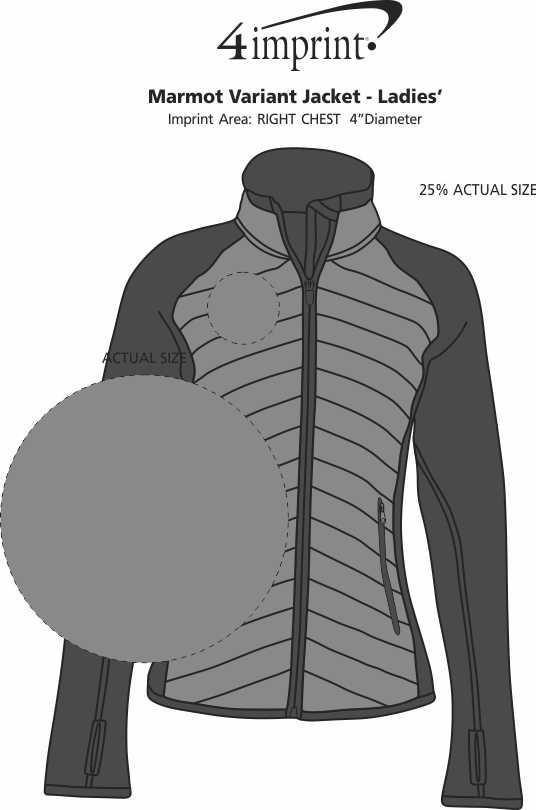 Imprint Area of Marmot Variant Jacket - Ladies'