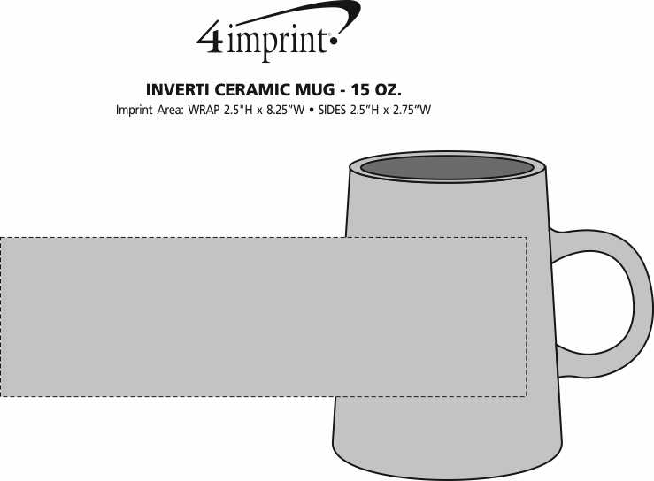 Imprint Area of Inverti Ceramic Mug - 15 oz.