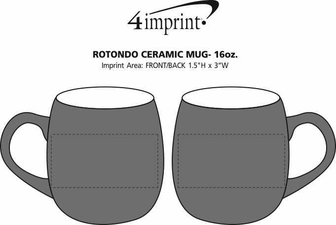 Imprint Area of Rotondo Coffee Mug - 16 oz.