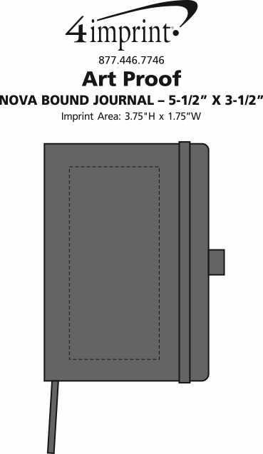 "Imprint Area of Nova Bound Journal Book - 5-1/2"" x 3-1/2"""