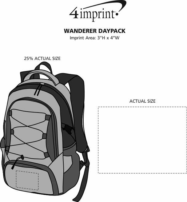 Imprint Area of Koozie® Wanderer Daypack