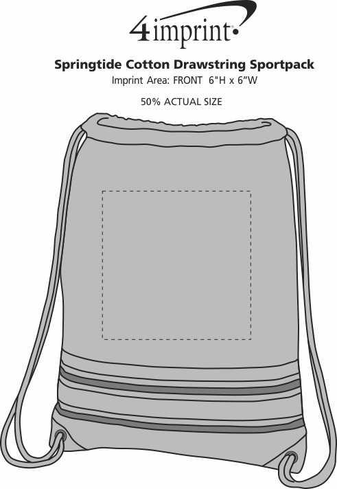 Imprint Area of Springtide Cotton Drawstring Sportpack