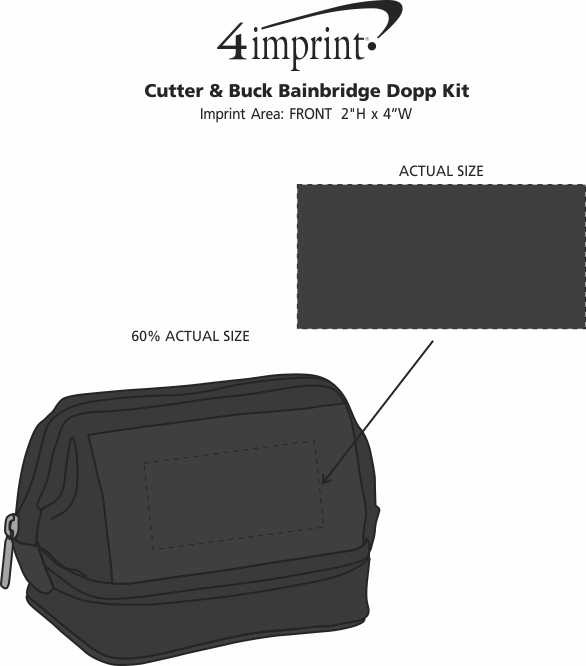 Imprint Area of Cutter & Buck Bainbridge Dopp Kit