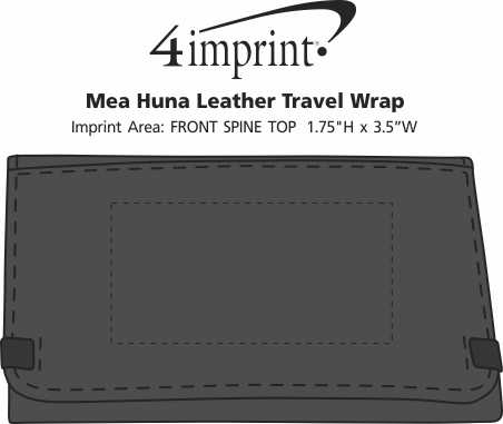 Imprint Area of Mea Huna Leather Travel Wrap