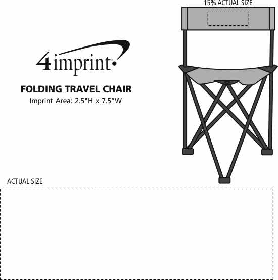 Imprint Area of Folding Travel Chair