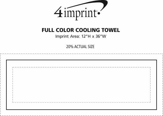 Imprint Area of Full Color Cooling Towel