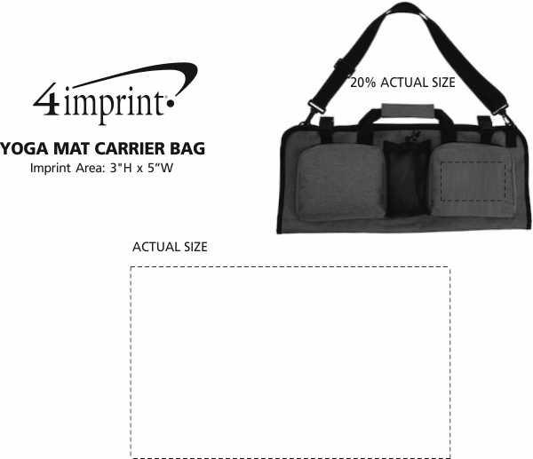 Imprint Area of Yoga Mat Carrier Bag