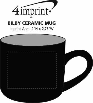 Imprint Area of Promotional Bilby Coffee Mug - 15 oz.