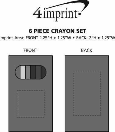 Imprint Area of 6 Piece Crayon Set