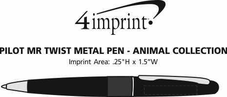 Imprint Area of Pilot MR Twist Metal Pen - Animal Collection