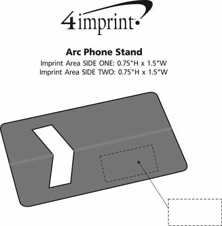 Imprint Area of Arc Phone Stand