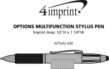 Imprint Area of Options Multifunction Stylus Pen