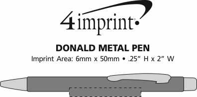 Imprint Area of Donald Soft Touch Metal Pen