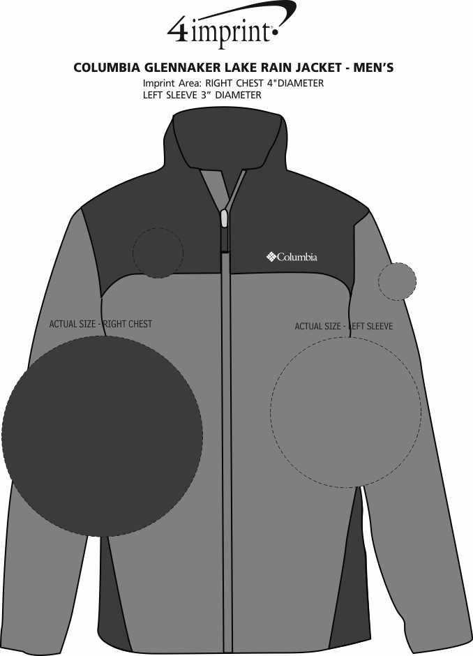 Imprint Area of Columbia Glennaker Lake Rain Jacket - Men's