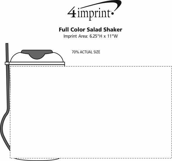 Imprint Area of Full Color Salad Shaker