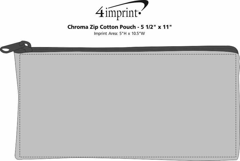 "Imprint Area of Chroma Zip Cotton Pouch - 5-1/2"" x 11"""