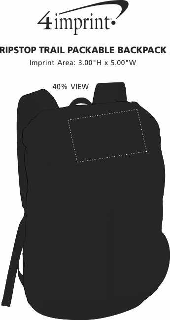 Imprint Area of Ripstop Trail Packable Backpack