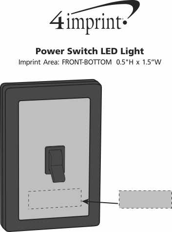 Imprint Area of Power Switch LED Light