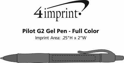 Imprint Area of Pilot G2 Gel Pen - Full Color