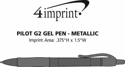 Imprint Area of Pilot G2 Gel Pen - Metallic