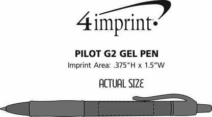 Imprint Area of Pilot G2 Gel Pen