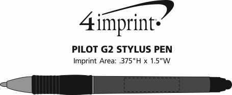 Imprint Area of Pilot G2 Stylus Pen