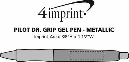 Imprint Area of Pilot Dr. Grip Gel Pen - Metallic