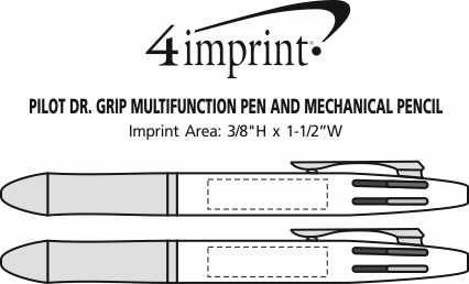 Imprint Area of Pilot Dr. Grip Multifunction Pen and Mechanical Pencil