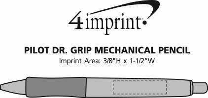 Imprint Area of Pilot Dr. Grip Mechanical Pencil