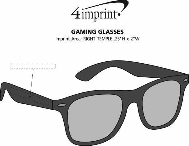 Imprint Area of Gaming Glasses