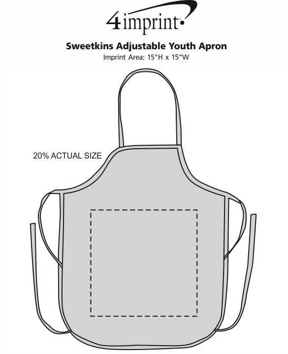 Imprint Area of Sweetkins Adjustable Youth Apron