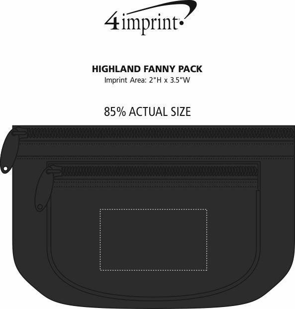 Imprint Area of Highland Fanny Pack